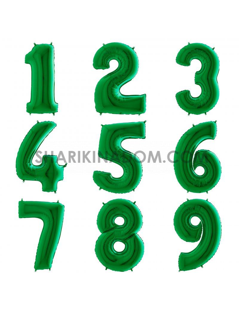 """Цифры Зелёные """"0..-..9"""" 95 см"""