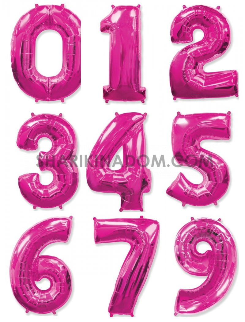 """Цифры Малиновые """"0..-..9"""" 95 см"""