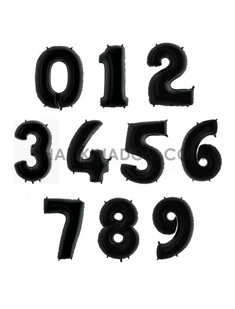 """Цифры Black  """"0..-..9"""" 95 см"""