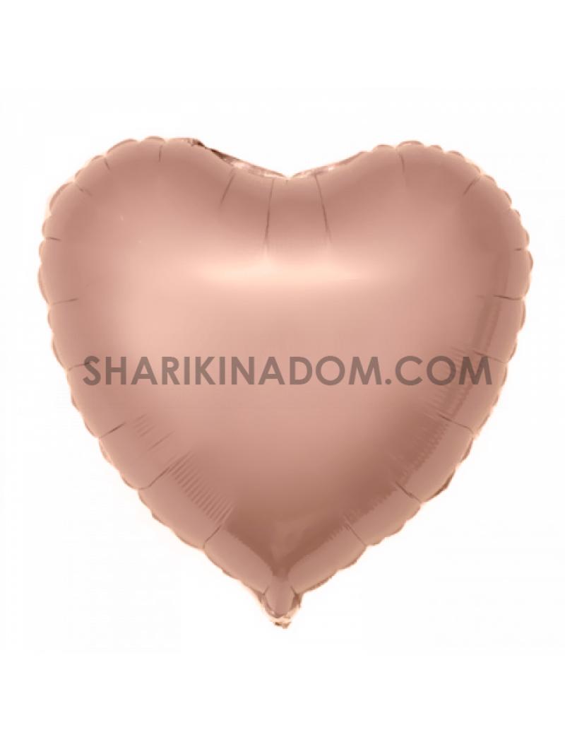 Серце Rose-Gold 45 см 18