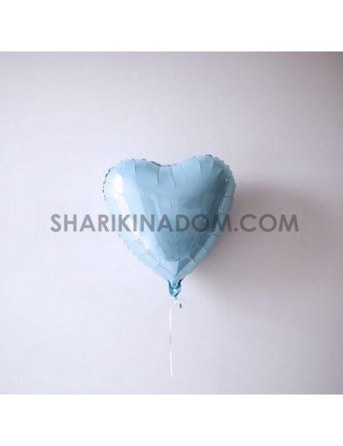 """Сердце Голубое - 45 см 18"""""""