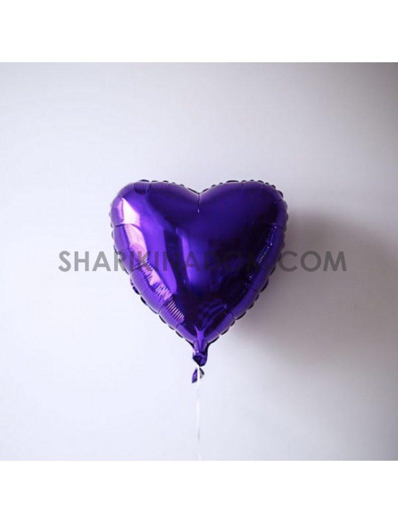 """Сердце Фиолетовое - 45 см 18"""""""
