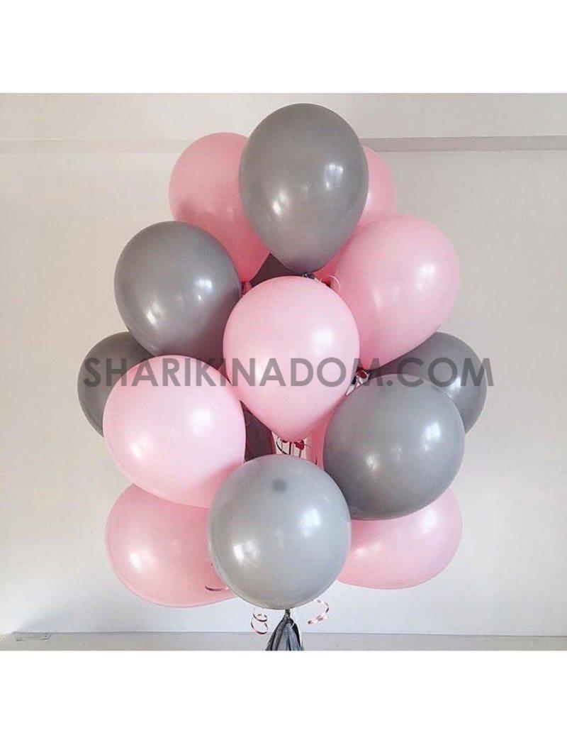 Розово-серые - 25 шт 30 см