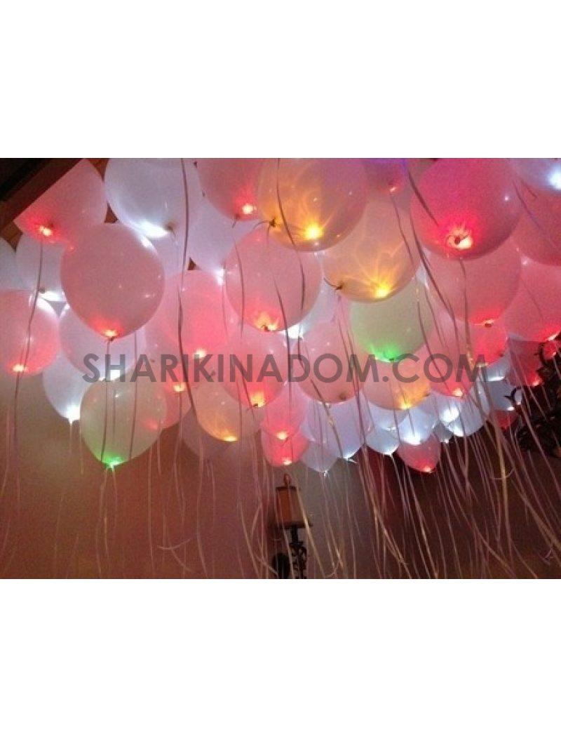 Светящиеся шары под потолок 25шт