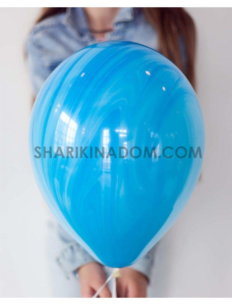 Агат синий - 30 см