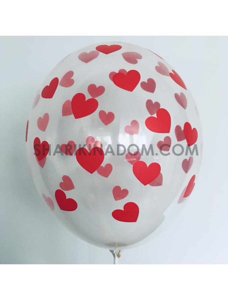 """Кристалл """"Сердца красные"""" - 33 см"""