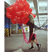 """Облако """"Сердечки красные"""" - 31 шт"""