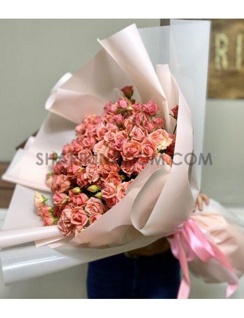 "Кустовая роза ""РОЗЕТТА - 51 шт"