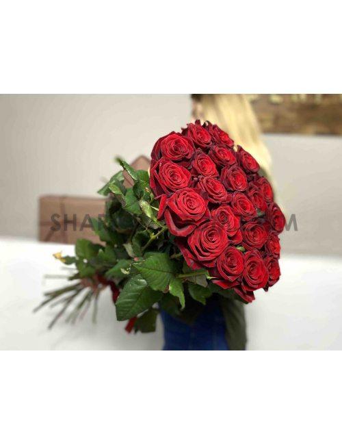 """Высокая роза """"Гран-при"""" - 80 см -21 шт"""