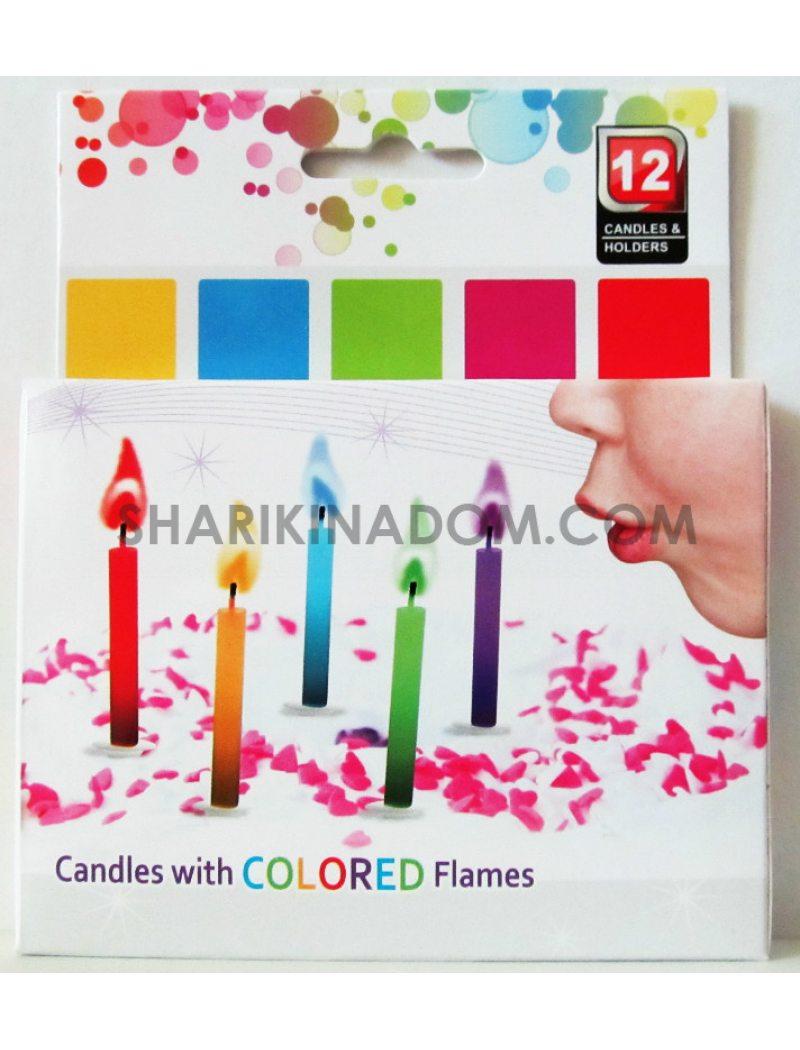"""Свечи """"Разноцветные огни"""" - 10 шт"""