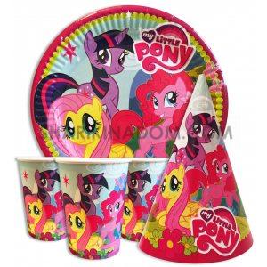 "Набор одноразовой посуды ""Little Pony"" - 30шт."
