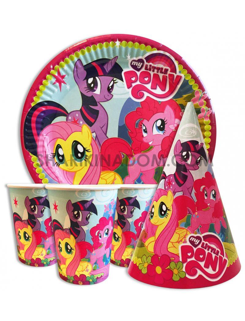 """Набір одноразового посуду """"Little Pony"""" - 30шт."""